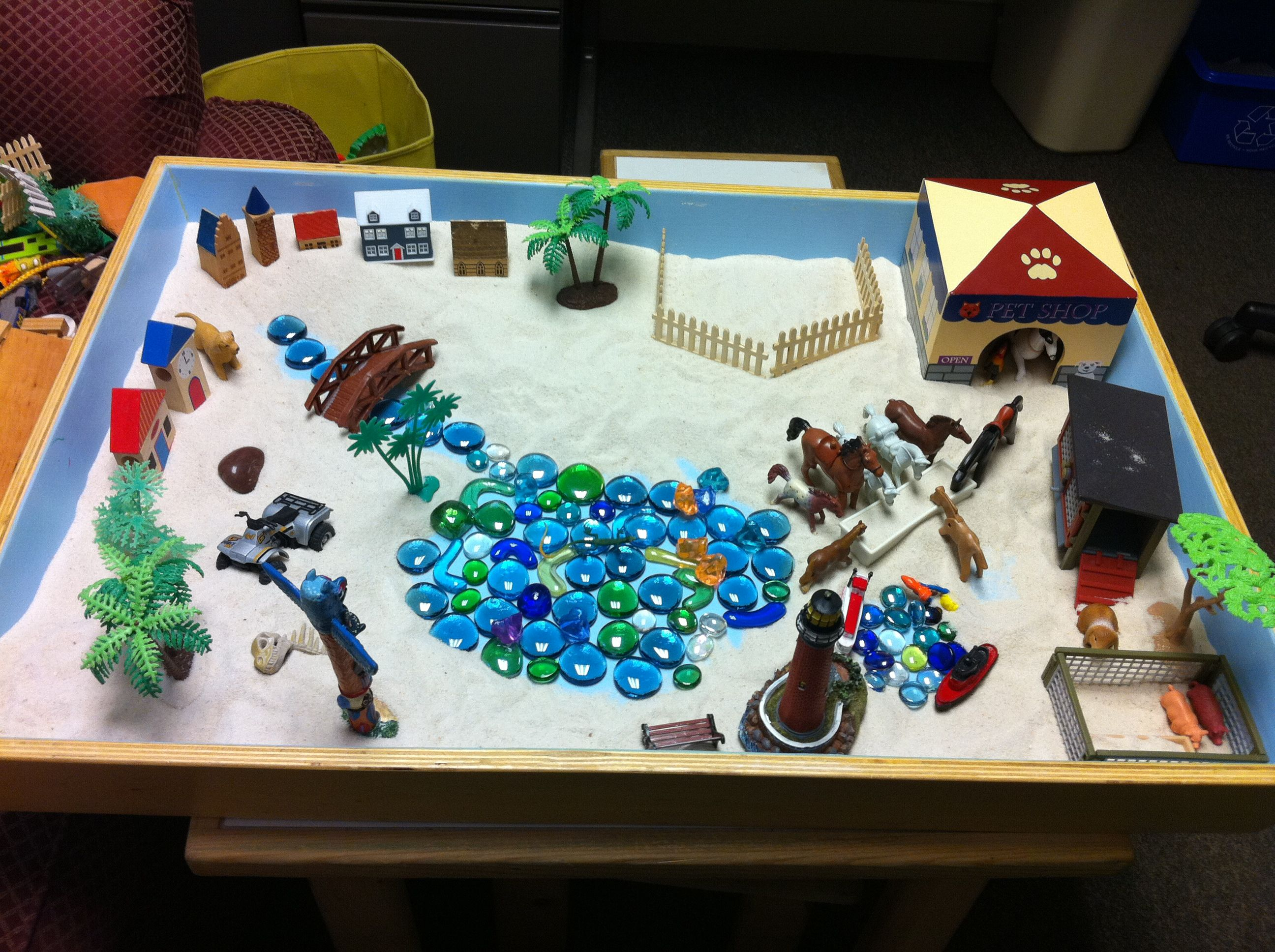 sand therapy Center for sand tray play, llc located  roban has been teaching professional workshops in play therapy and sand tray therapy in the phoenix area and around the.